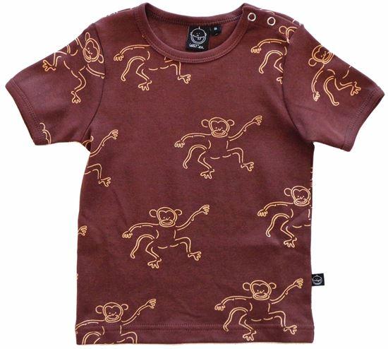 Billede af IdaT T-shirt kortærmet - brun abe