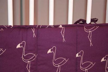 Billede af Sengerand - blommefarvet med flamingo