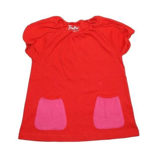 Billede af TimeBeat kjole - rød med pink lommer