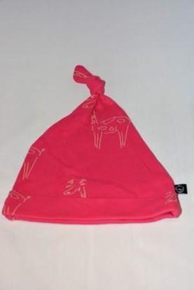 Billede af IdaT - Hue med top - pink giraf