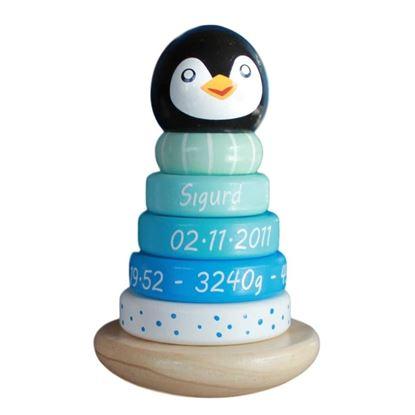 Billede af Pingvin - stabel - blå