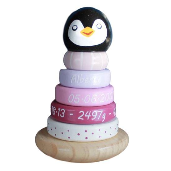 Billede af Pingvin - stabel - pink