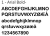1 - Arial Bold