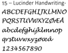 15 -  Lucida Handwriting