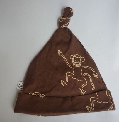 Billede af IdaT - Hue med top - brun abe