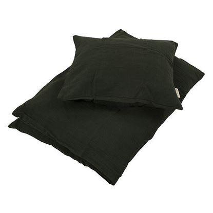 Billede af Baby sengesæt muslin, Dark green