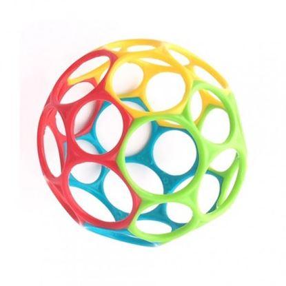 Billede af Oball Classic bold, Rød/blå/grøn/gul